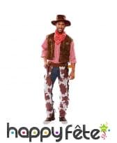 Tenue de cowboy chaps vachette pour adulte