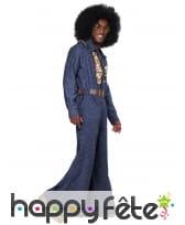 Tenue disco couleur jean pour homme, image 1