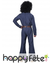 Tenue disco couleur jean pour homme, image 2