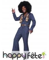 Tenue disco couleur jean pour homme