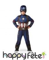 Tenue du captain américa pour enfant, civil war