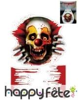 Tête de clown zombie pour toilettes