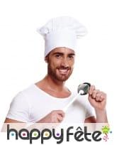 Toque de cuisinier blanche, image 1