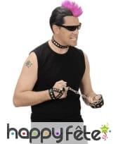 Tour de cou, bracelet et bracelet bague de rocker
