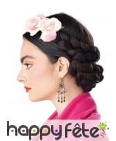 Tresses de cheveux avec fleurs pour femme, image 2