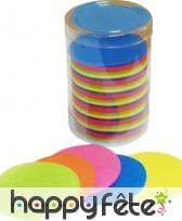 Tube de confettis rond multicolore