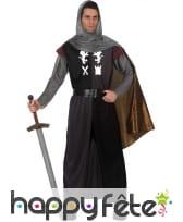 Tunique de chevalier médiéval avec casaque