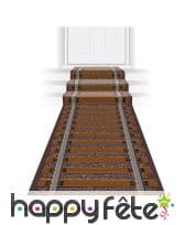 Tapis de déco de chemin de fer, 3mx60cm