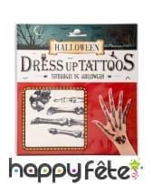 Tatouages de doigts squelettes, image 1