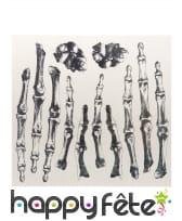 Tatouages de doigts squelettes