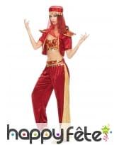 Tenue de danseuse orientale pour femme, rouge