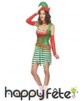 Tenue d'elfe de Noël pour femme adulte, image 1