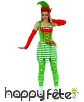 Tenue d'elfe de Noël pour femme adulte, image 3