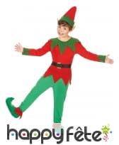 Tenue d'elfe de Noël pour garçon