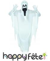 Tenue de fantôme blanc traditionnel pour adulte, image 2