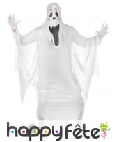 Tenue de fantôme blanc traditionnel pour adulte
