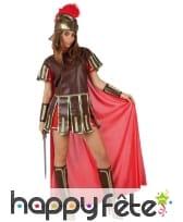 Tenue de femme centurion avec cape rouge