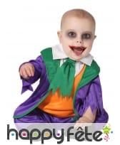 Tenue de fou violette verte pour bébé
