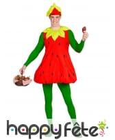 Tenue de fraise pour adulte, image 1