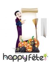 Tableau d'Halloween sur pied en carton