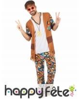Tenue d'homme hippie motifs années 60