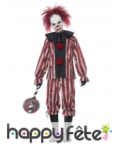 Tenue d'horrible clown tueur pour adulte