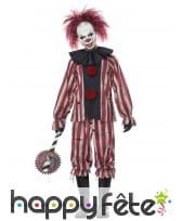 Tenue d'horrible clown tueur pour adulte