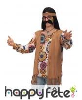 Tenue de hippie motifs psychédéliques homme