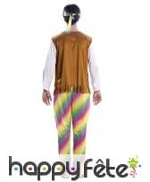 Tenue de Hippie multicolore pour homme, image 2