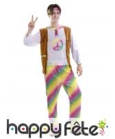 Tenue de Hippie multicolore pour homme