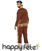 Tenue d'indien marron pour homme, image 1