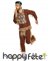 Tenue d'indien marron pour homme