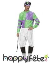 Tenue de jockey vert et violet