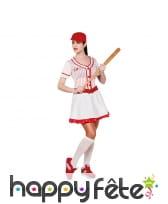 Tenue de joueur de baseball pour femme