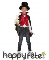 Tenue de magicien pour enfant avec accessoires
