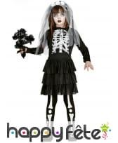 Tenue de mariée squelette pour enfant