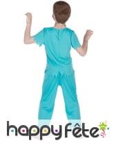 Tenue de médecin zombie ensanglanté pour enfant, image 2