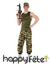 Tenue de militaire camouflage pour ado