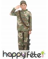 Tenue de militaire pour petit garçon