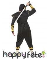 Tenue de ninja noir et doré pour adulte, image 3