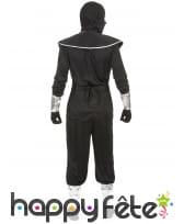 Tenue de ninja noire et argentée pour homme, image 2