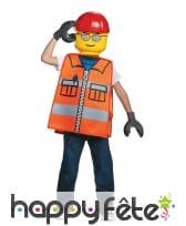 Tenue d'ouvrier de chantier Lego pour enfant