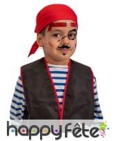 Tatouages de pirate adhésifs pour enfant