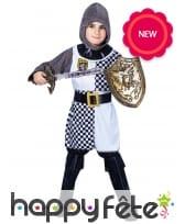 Tenue de petit chevalier en tunique pour enfant