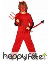 Tenue de petit Diable rouge pour garçon