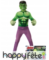 Tenue de petit Hulk avec grandes mains, en coffret