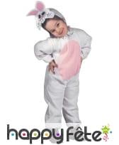 Tenue de petit lapin blanc et rose pour enfant