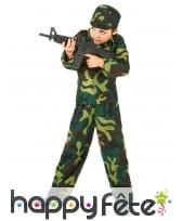Tenue de petit militaire imprimé camouflage, image 1