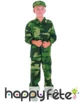 Tenue de petit militaire imprimé camouflage, image 3