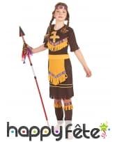 Tenue de petite indienne marron en robe, image 1